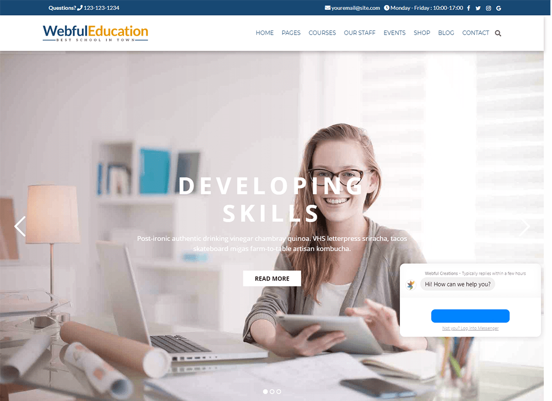 Education WordPress Theme - Education WP   Website Template