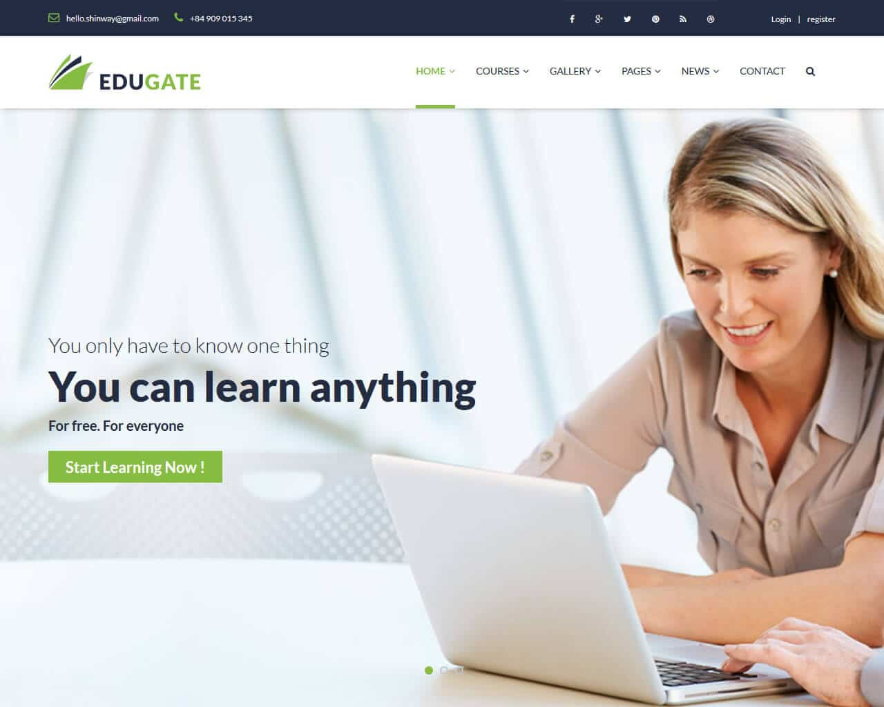 EduGate Website Template