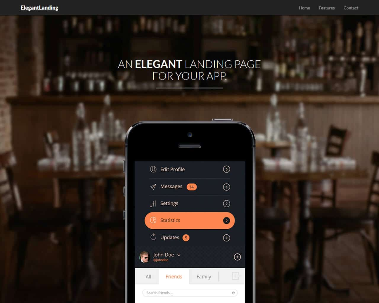 ElegantLanding Website Template