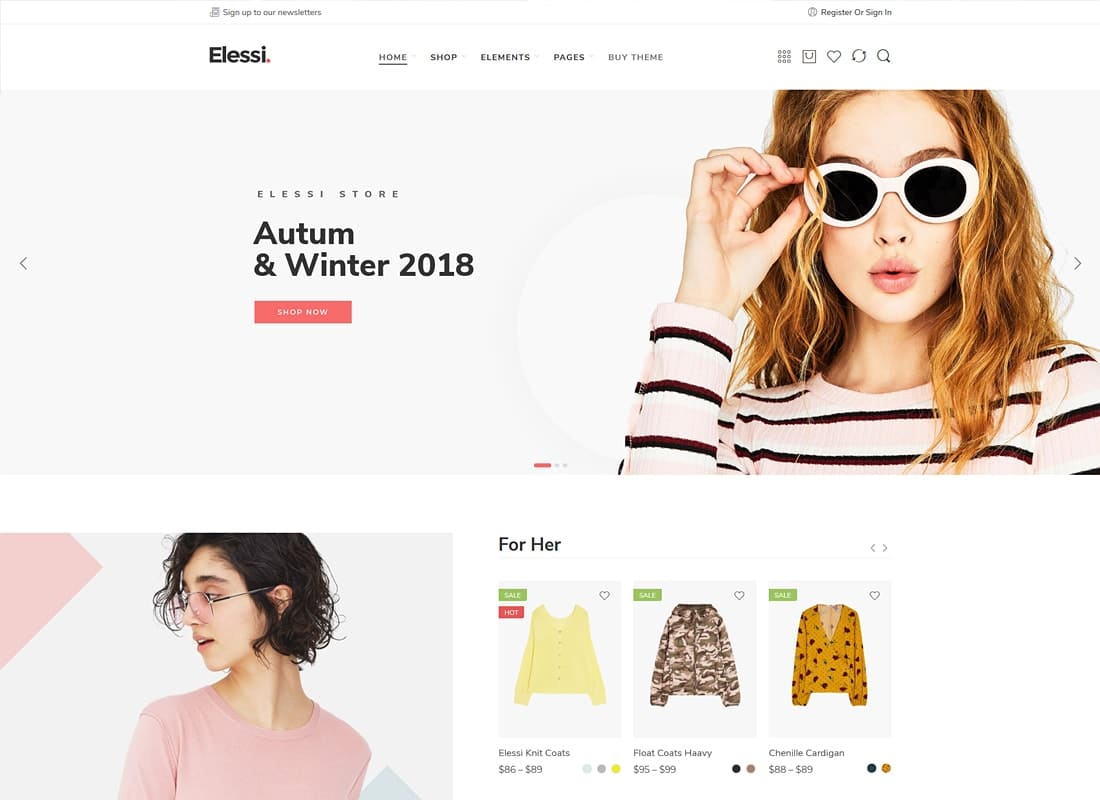 Elessi - WooCommerce AJAX WordPress Theme - RTL support Website Template