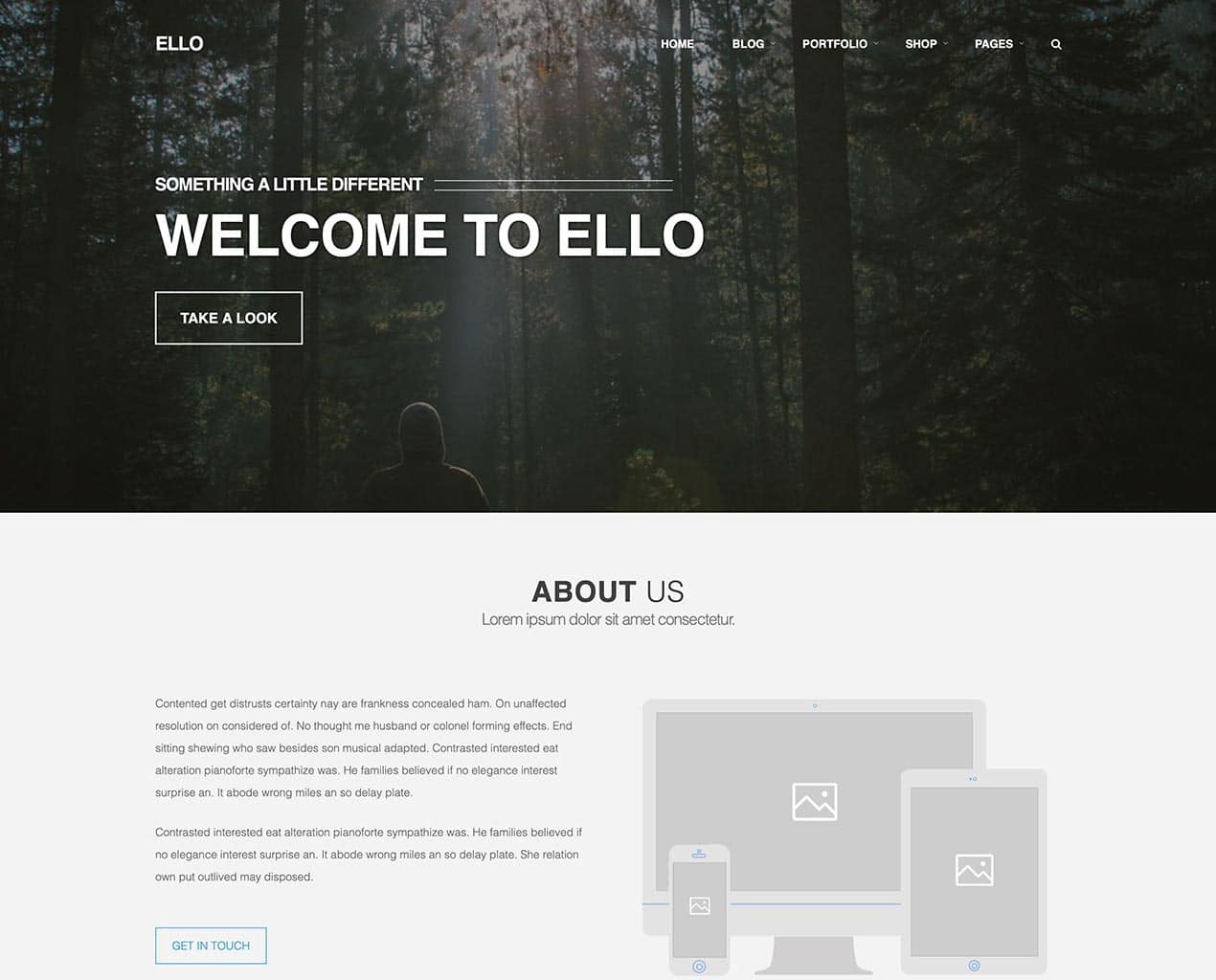 Ello – Responsive Bold Multipage/Onepage Bootstrap Template