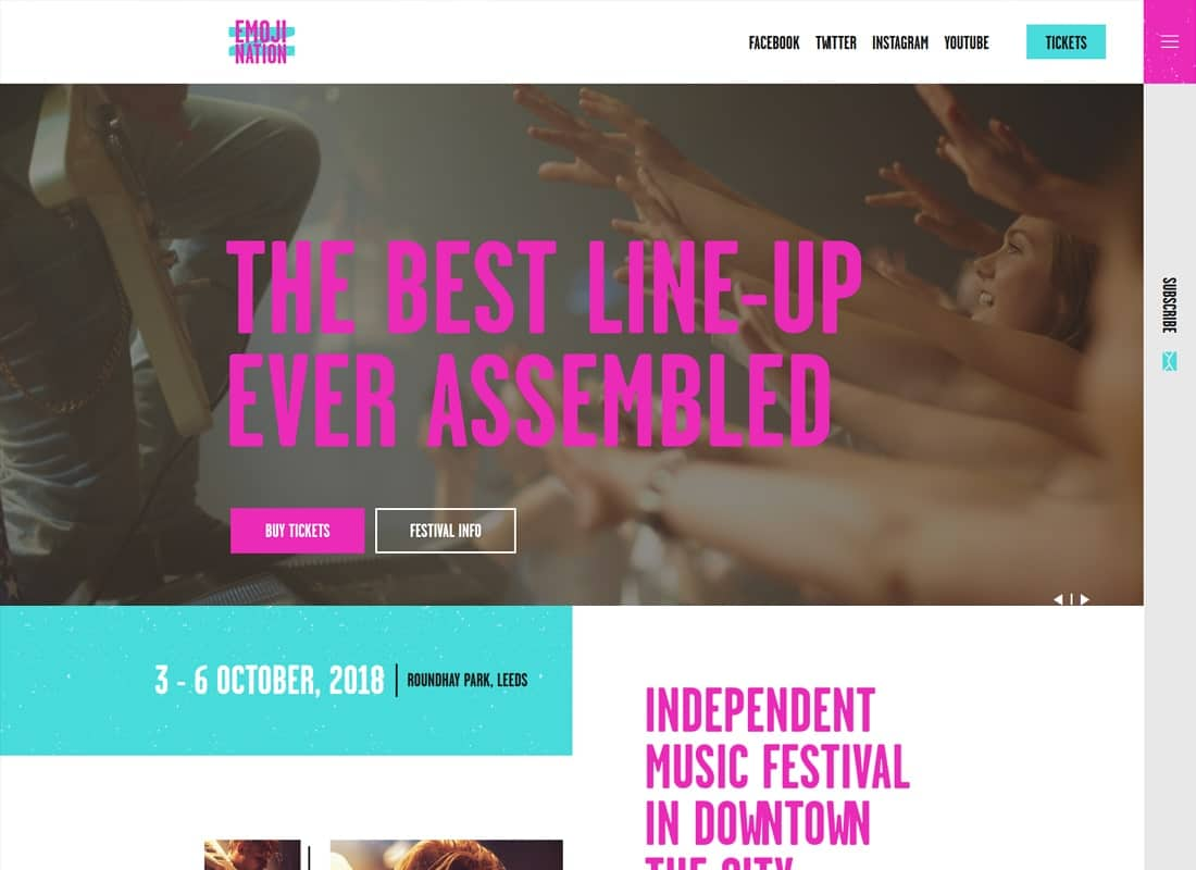 EmojiNation | Night Club & Concert WordPress Theme Website Template