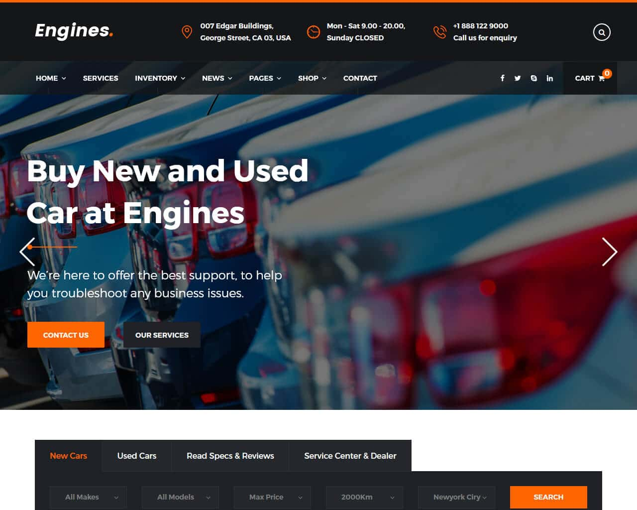Engines Website Template