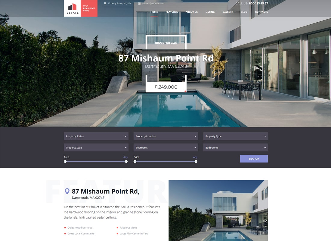 Estate - Property Sales & Rental WordPress Theme + RTL Website Template