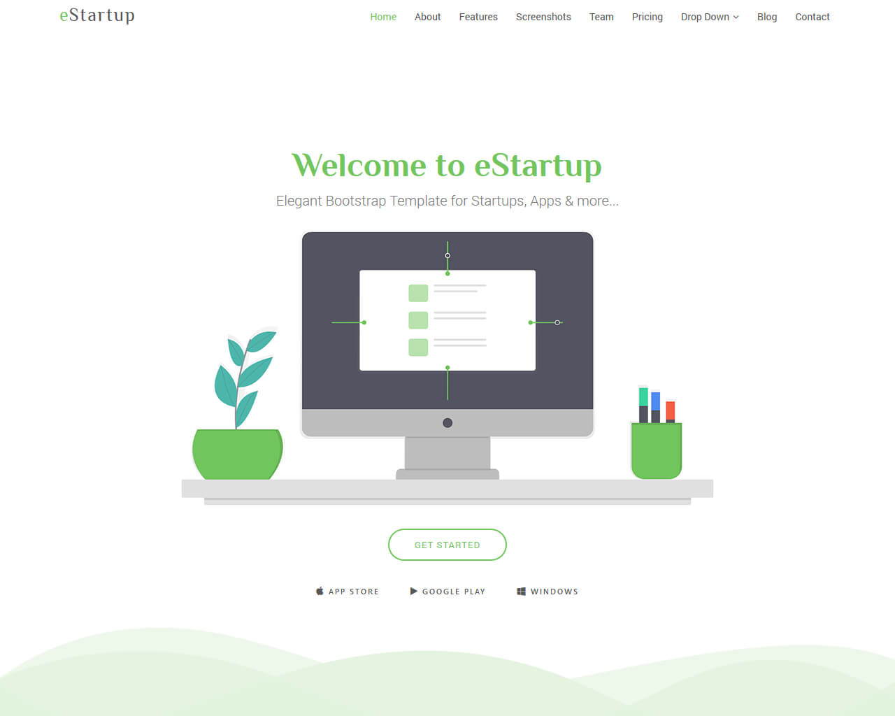 eStartup Website Template