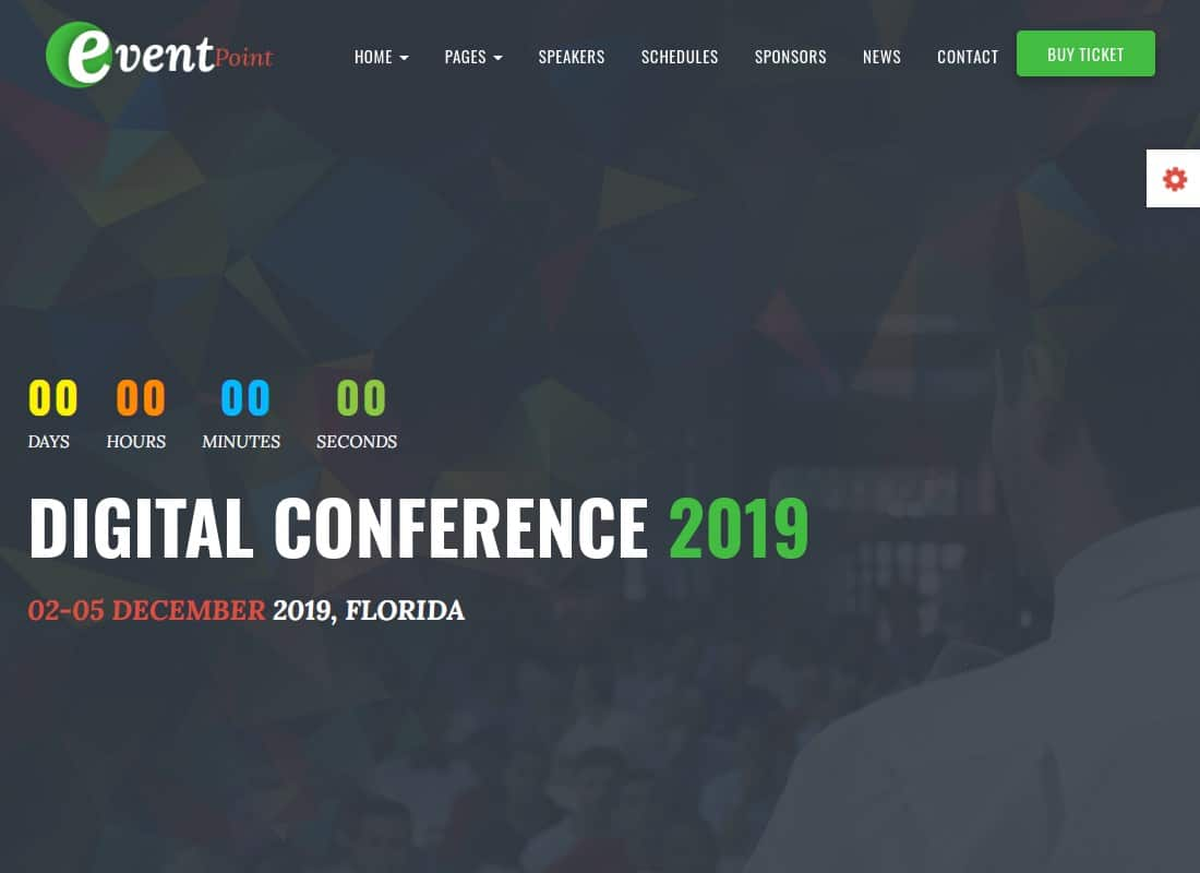 Event Point - Event, Conference & Meetup WordPress Theme Website Template