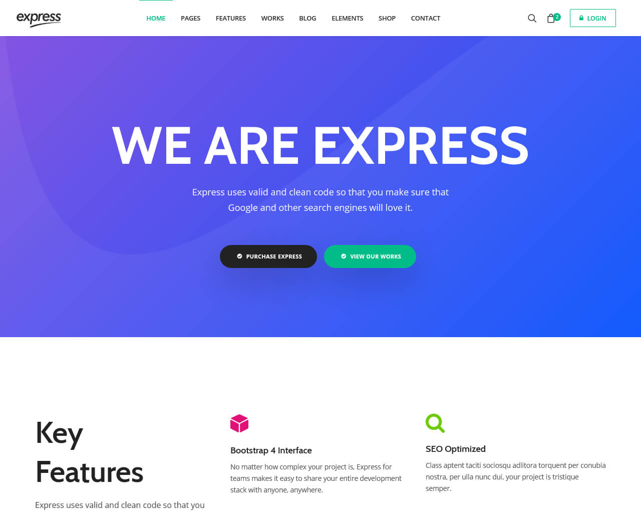 Express Website Template