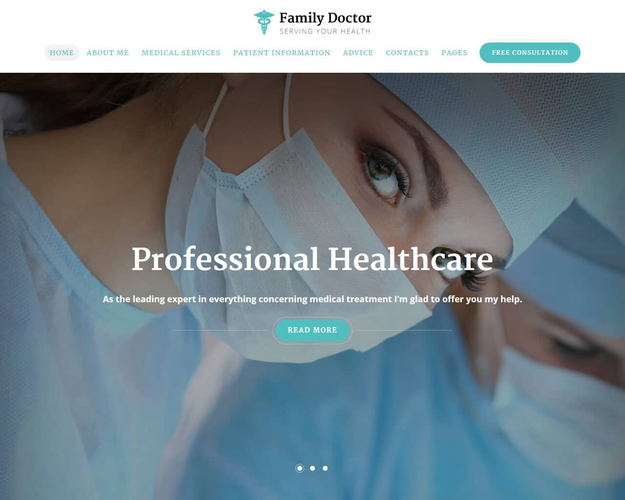 Family Doctor Website Template