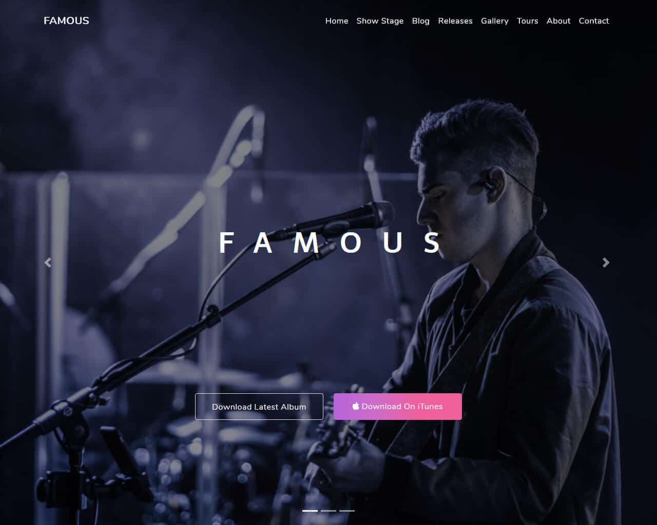 Famous Website Template