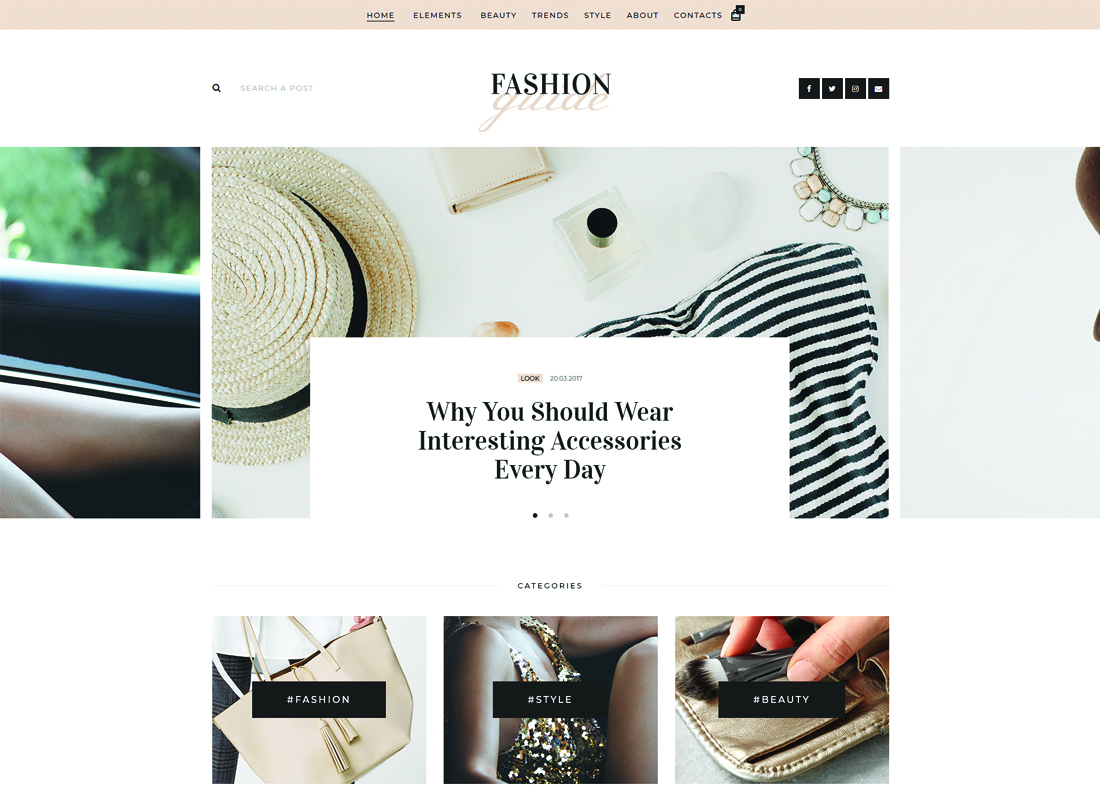 Fashion Guide | Online Magazine & Lifestyle Blog WordPress Theme Website Template