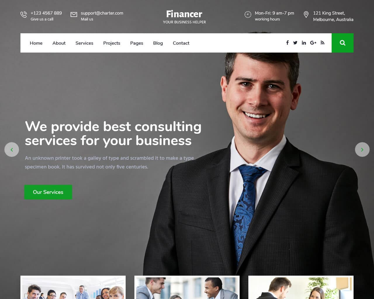Financer Website Template