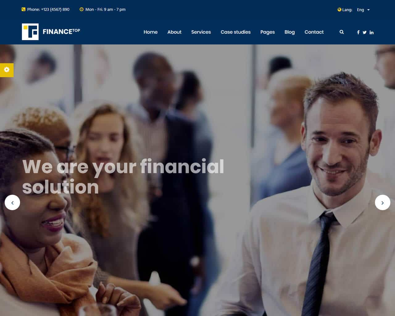 Finance Top Website Template