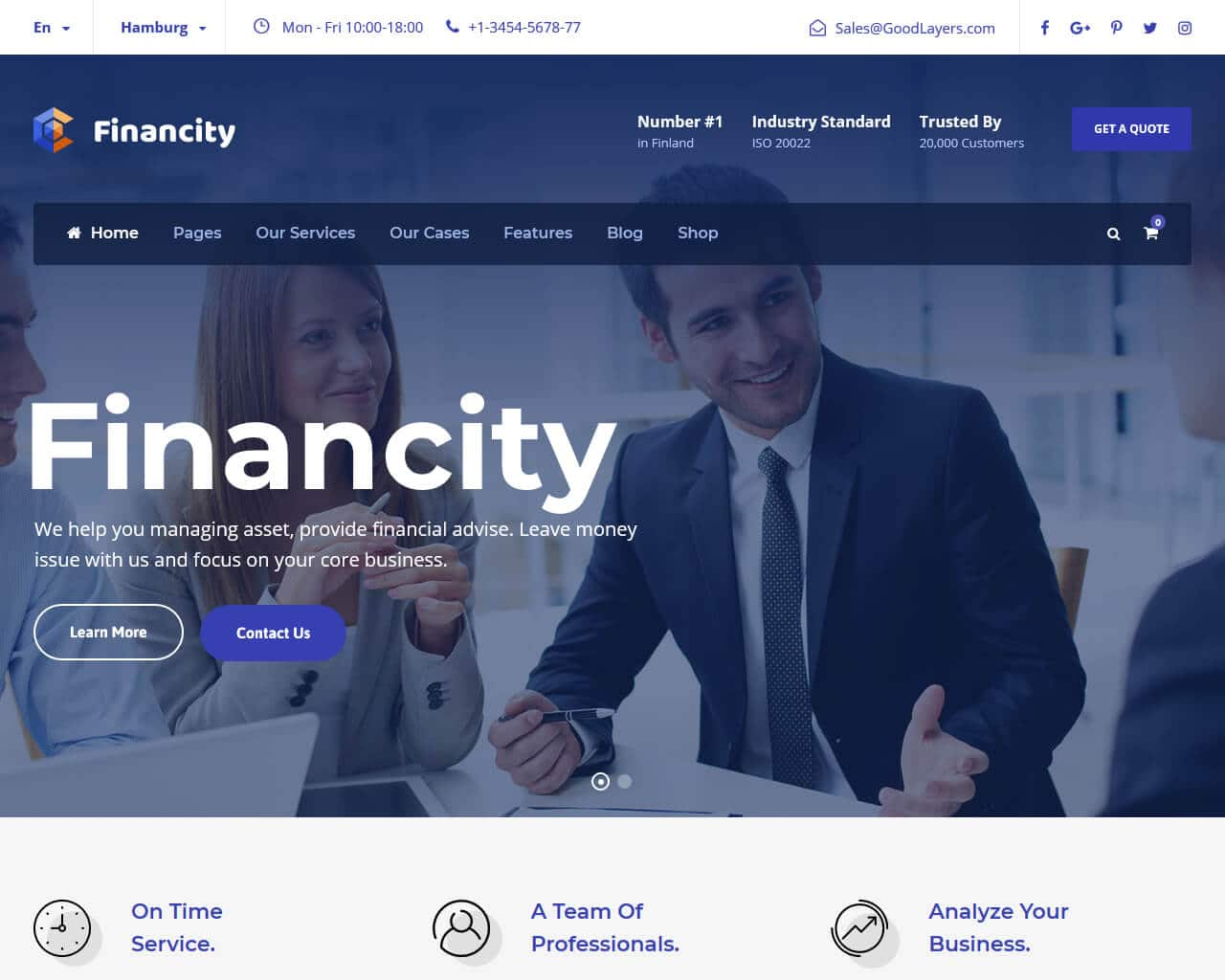 Financity Website Template