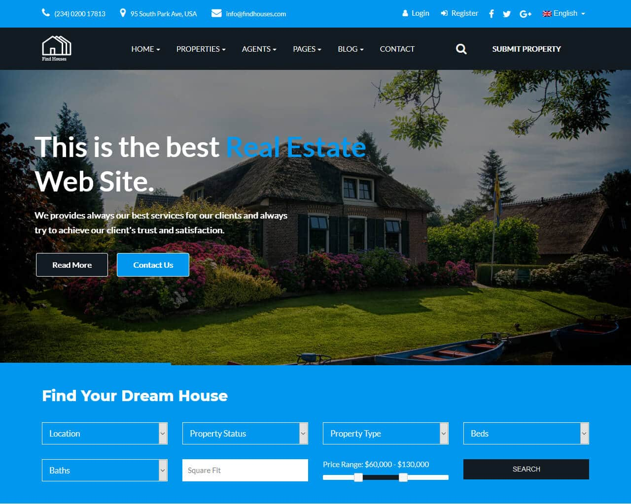 Find Houses Website Template