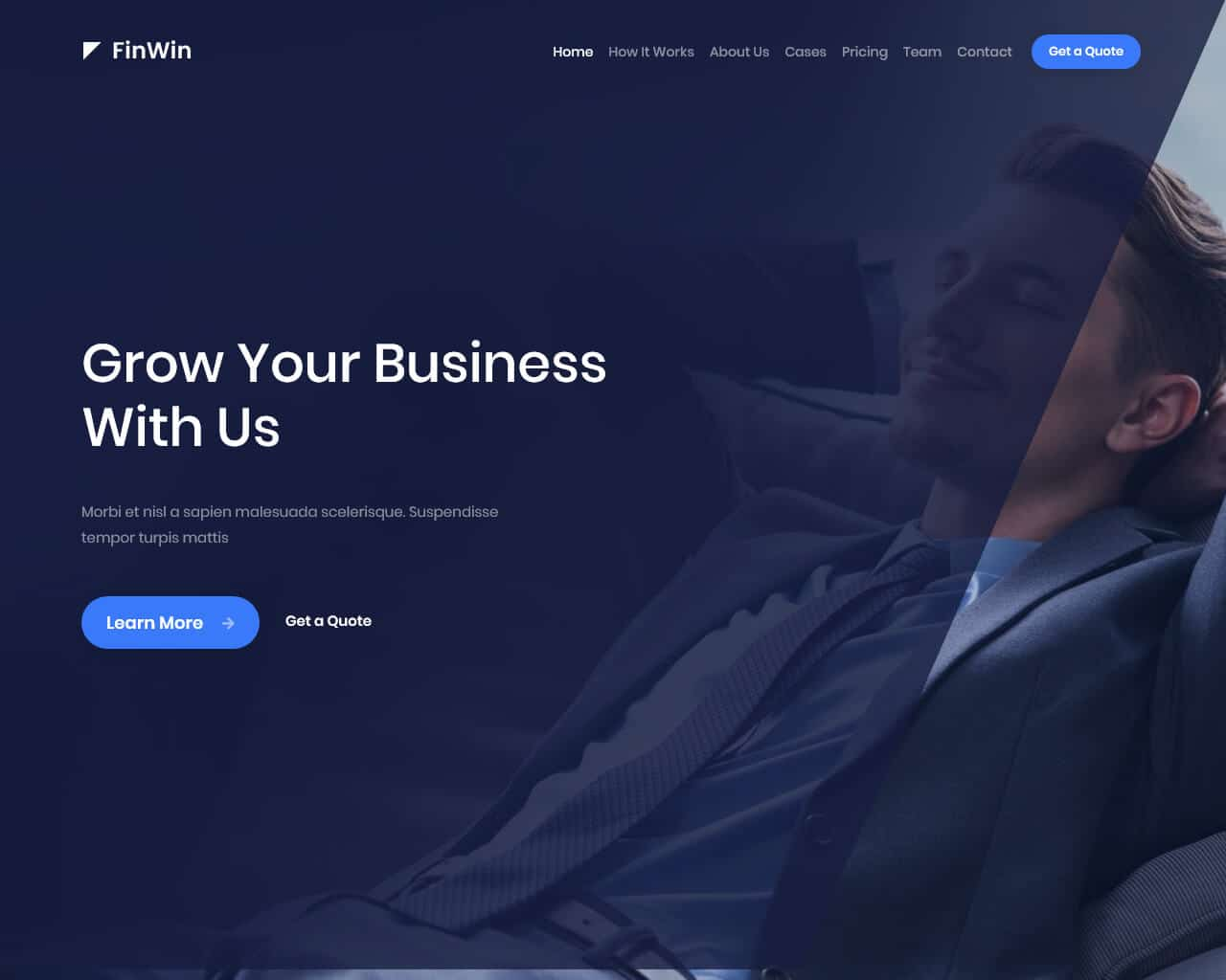 FinWin Website Template