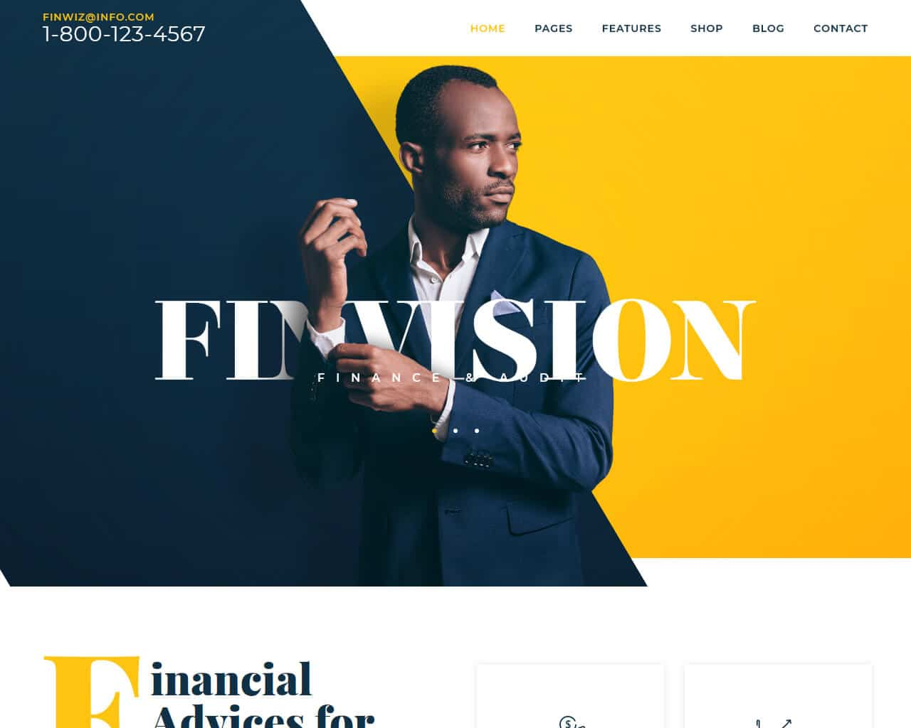 Finwiz Website Template