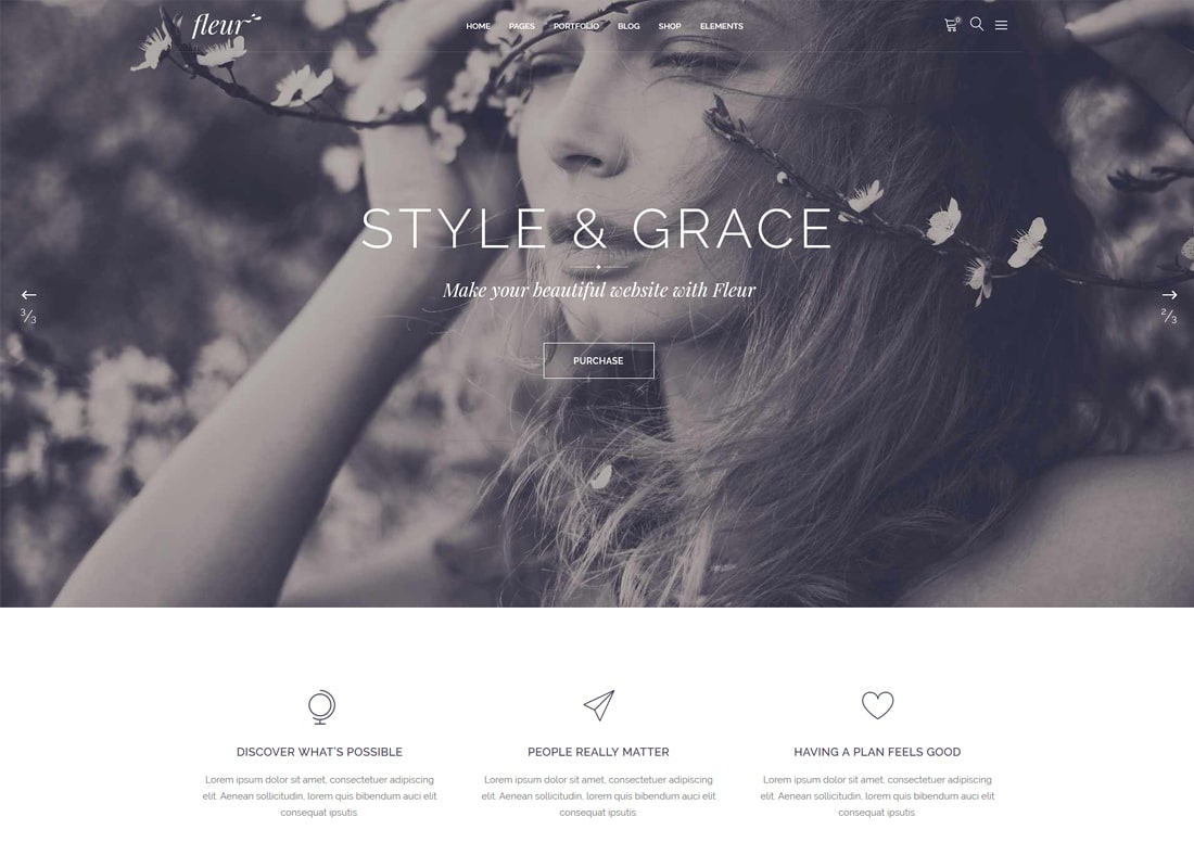 Fleur - Wedding Theme for Celebrations and Wedding Businesses Website Template