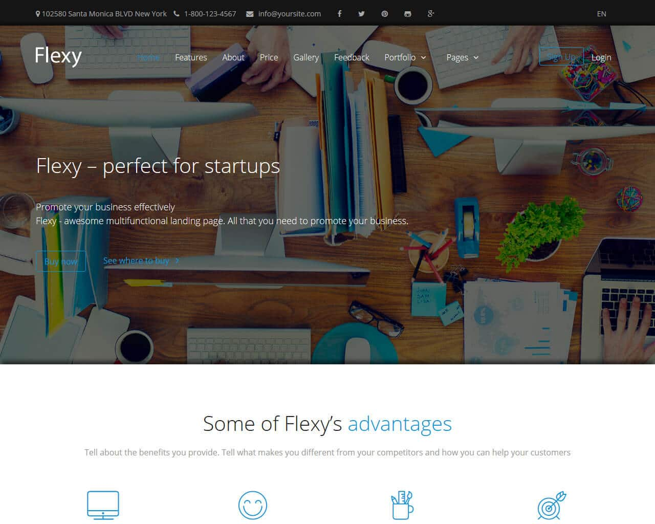 Flexy Website Template