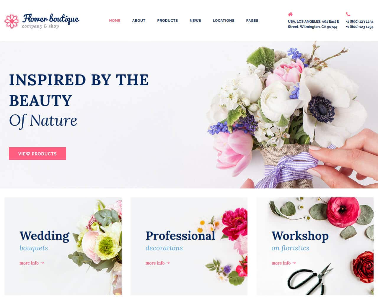 Flower Boutique Website Template