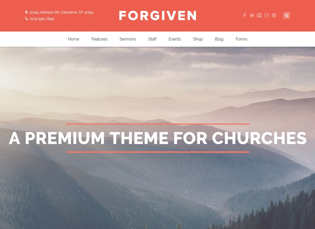 Forgiven | A WordPress Theme for Churches Website Template