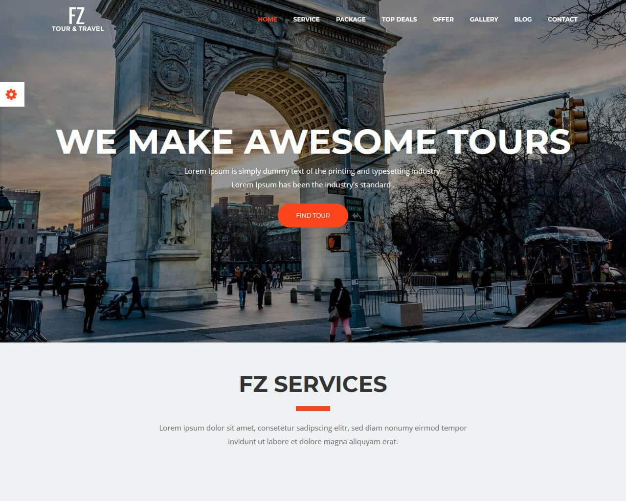 FZ - Tour & Travel Website Template