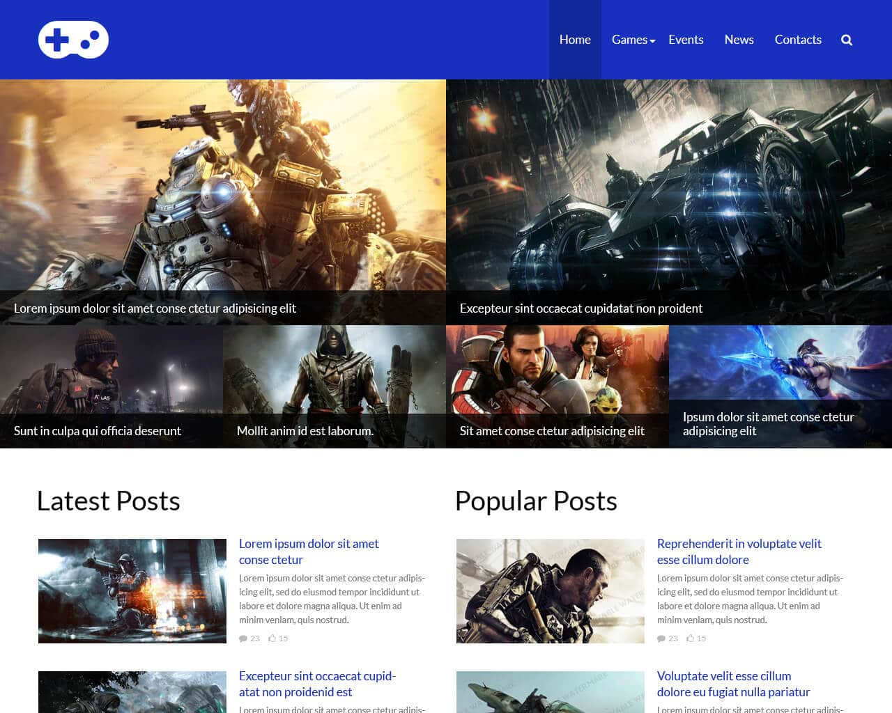 Top Notch Gaming Website Templates - Gaming website template
