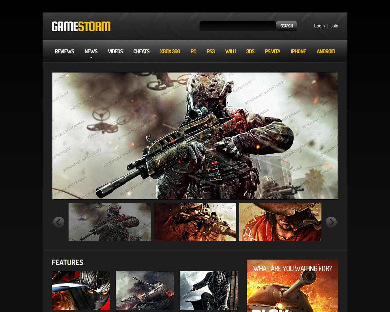 GameStorm Website Template