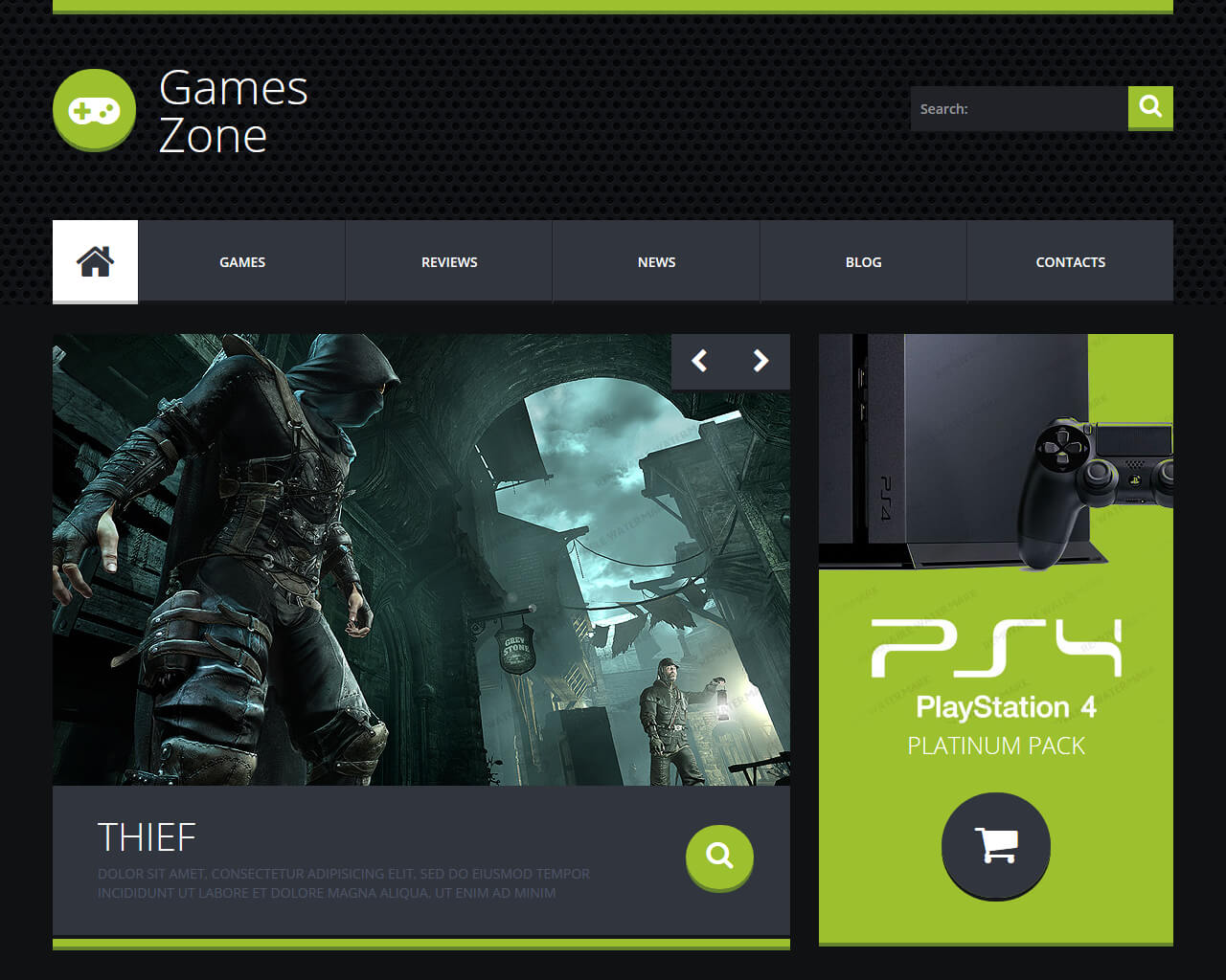 GamesZone Website Template