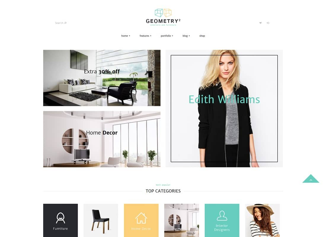 Geometry | Interior Design & Furniture Shop WordPress Theme Website Template