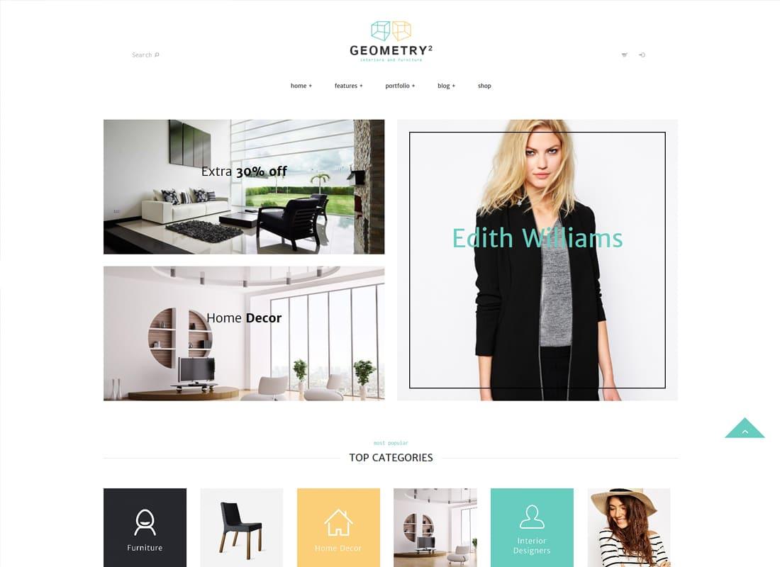 Geometry | Interior Design & Furniture Shop WordPress Theme Website Template