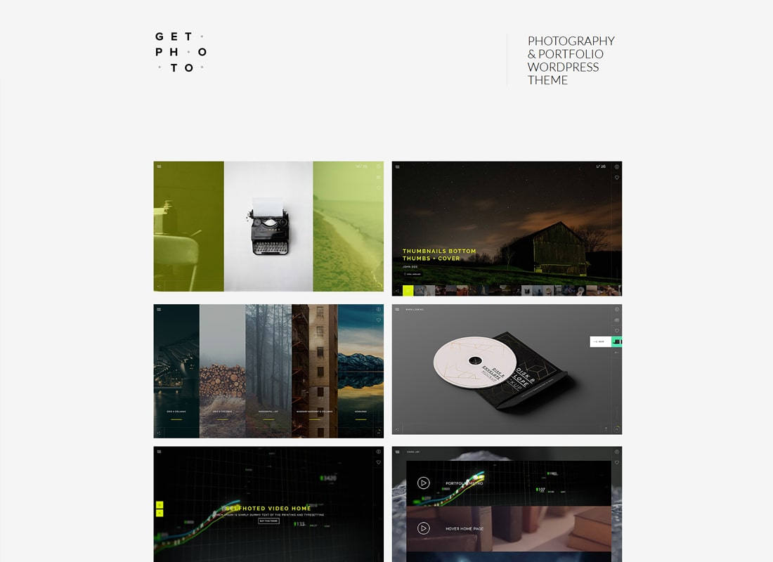 GetPhoto | Photography & Portfolio WordPress Theme Website Template