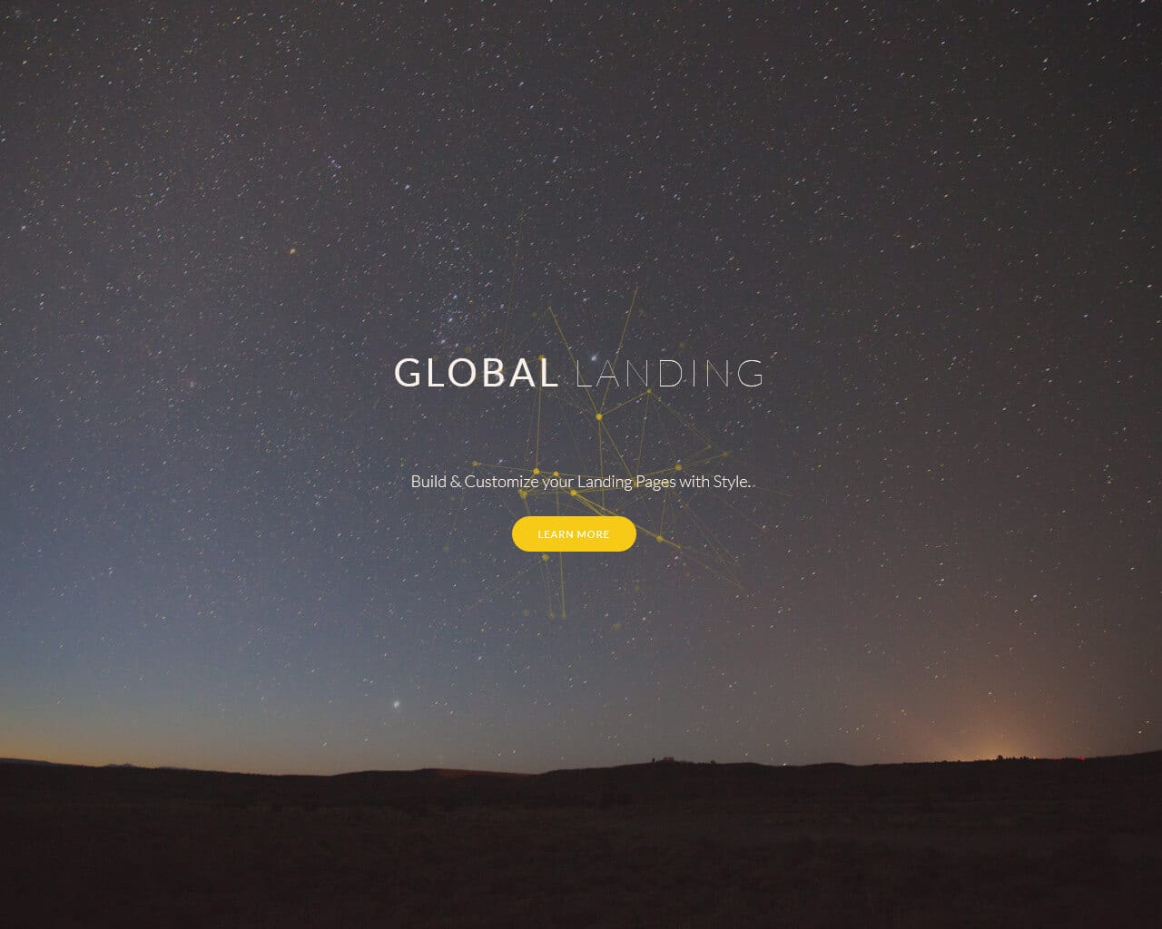 GlobalLanding Website Template