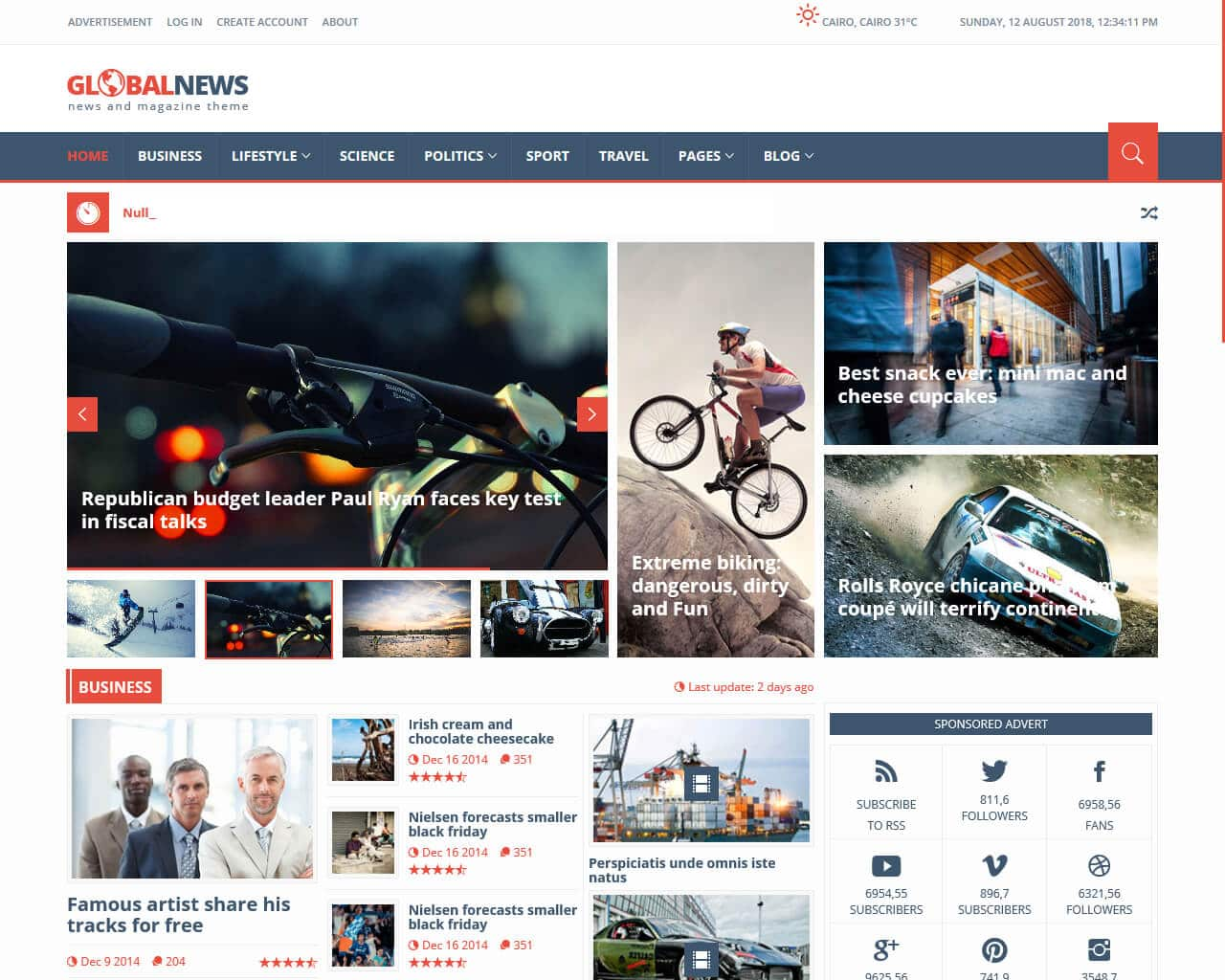 GlobalNews Website Template