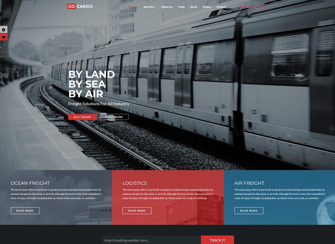 GoCargo - Freight, Logistics & Transportation WordPress Theme Website Template