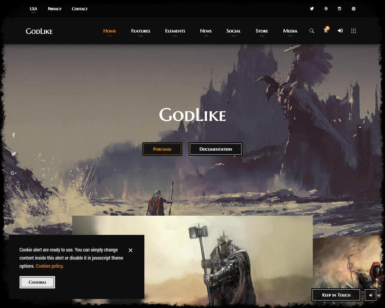 Godlike Website Template
