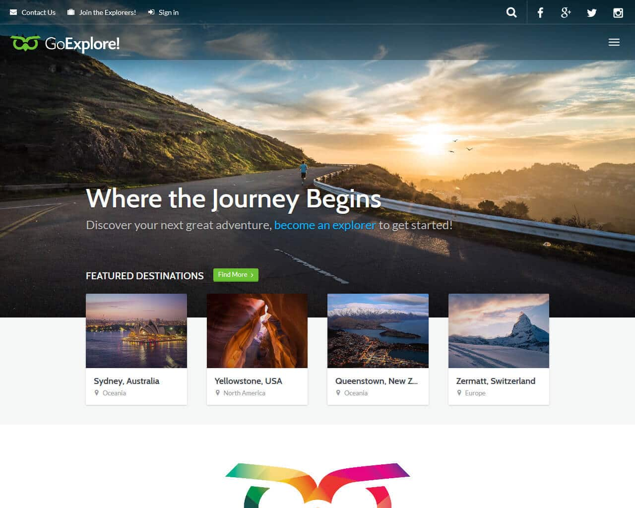 GoExplore Website Template
