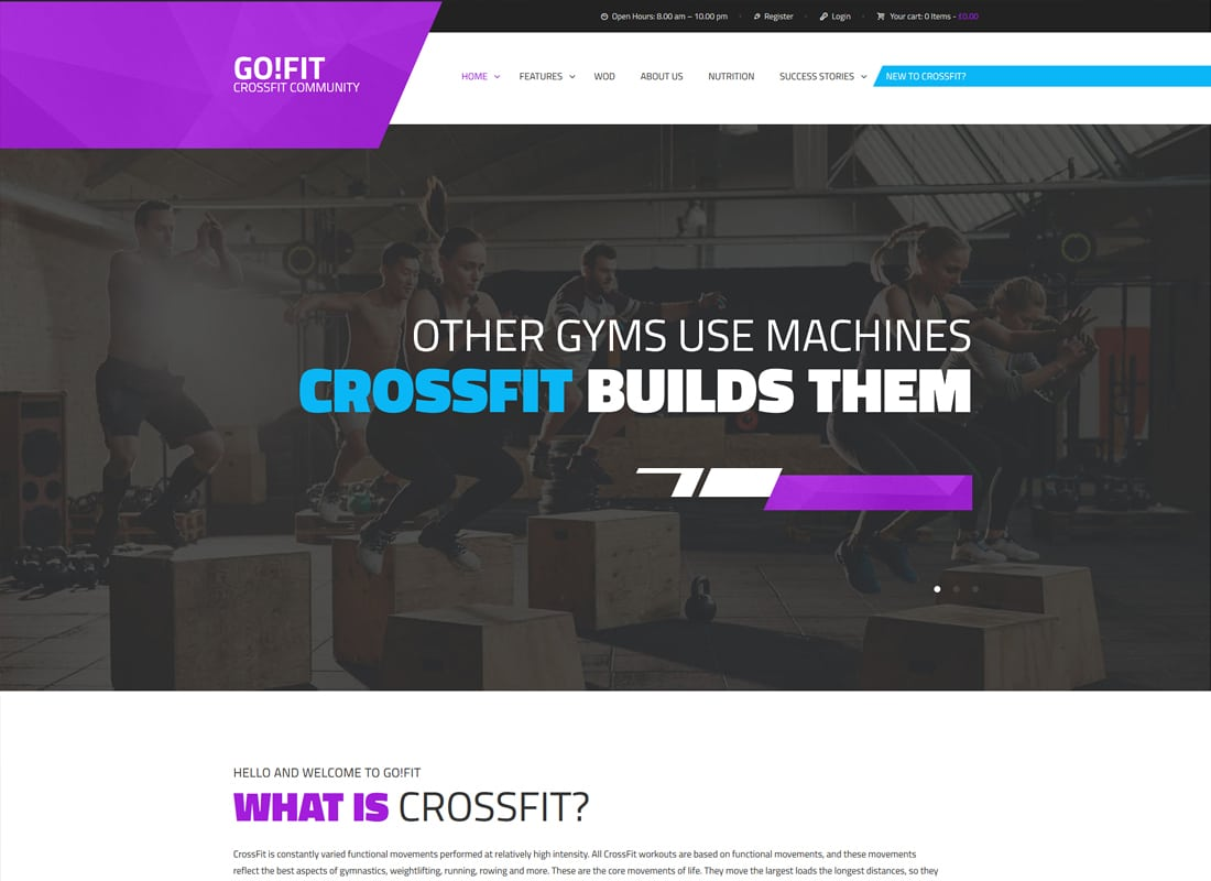 GoFit! | Fitness, Gym and Crossfit WordPress Theme Website Template