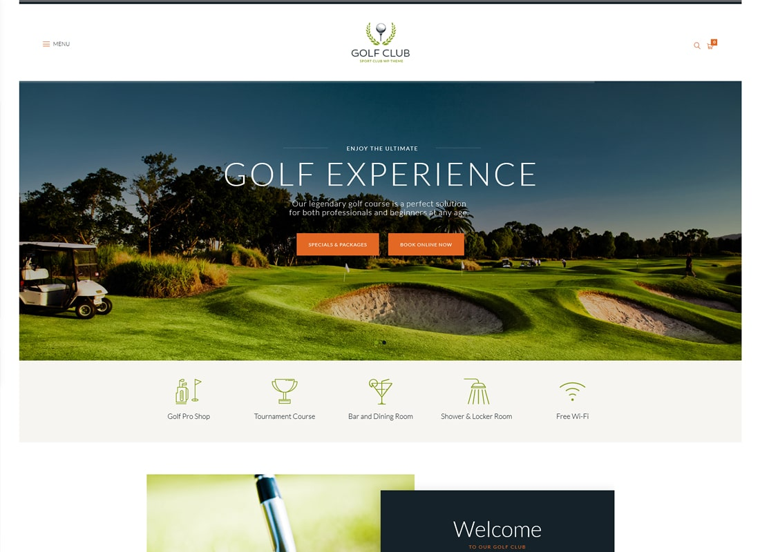 Golf Club | Sports & Events WordPress Theme Website Template