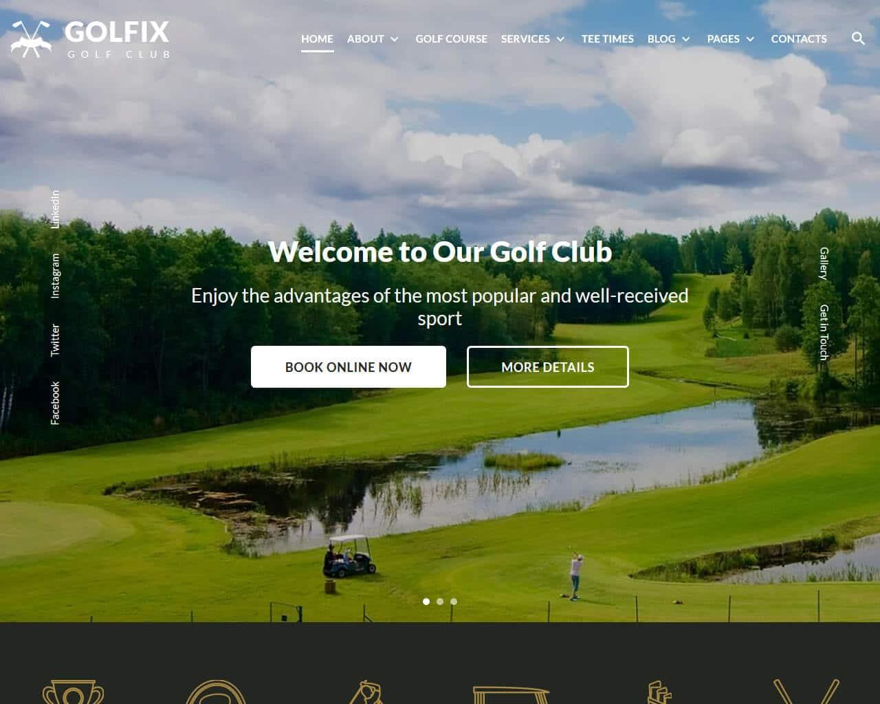 Golfix Website Template