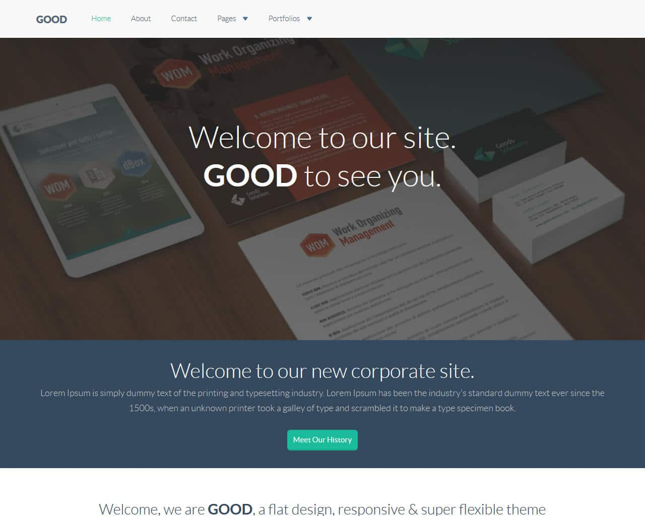 Good – Bootstrap Corporate Template