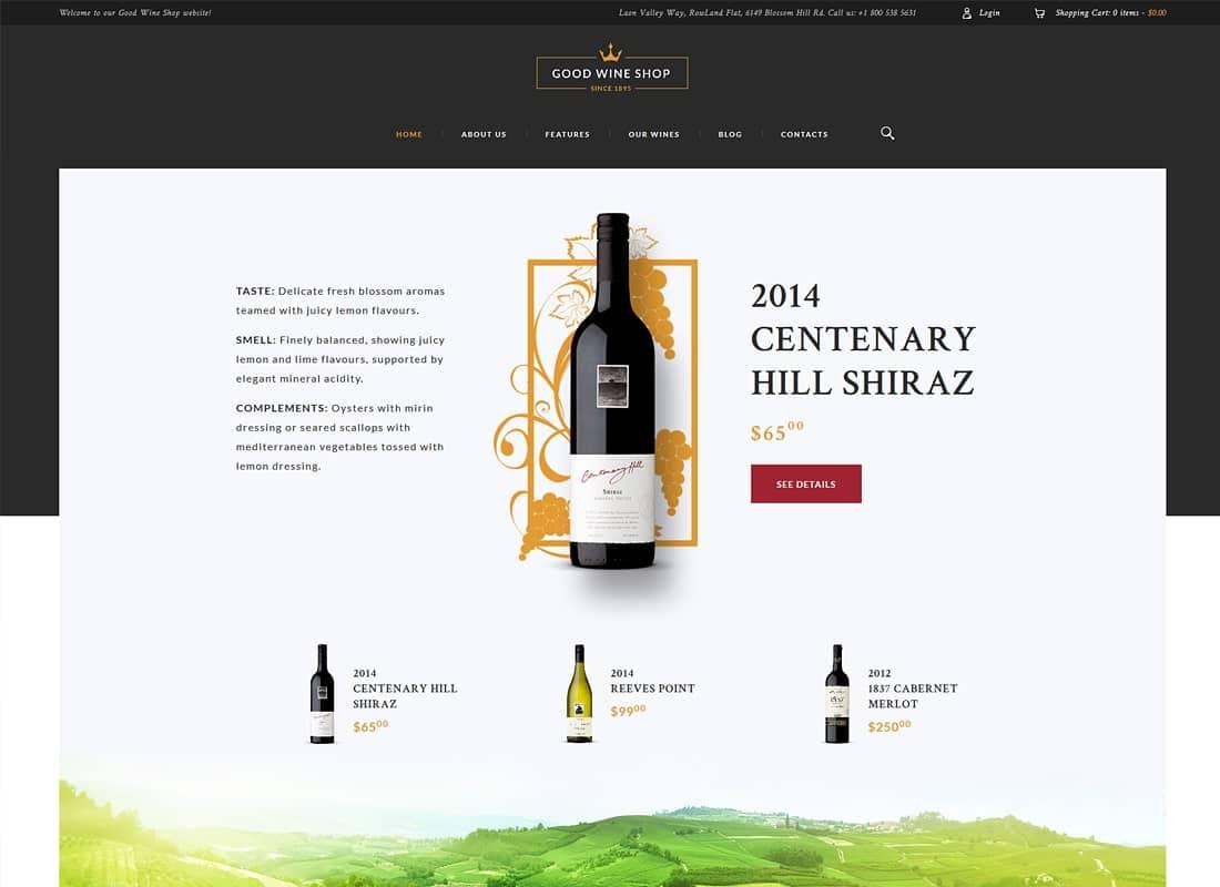Good Wine | Wine House, Winery & Wine Shop WordPress Theme Website Template
