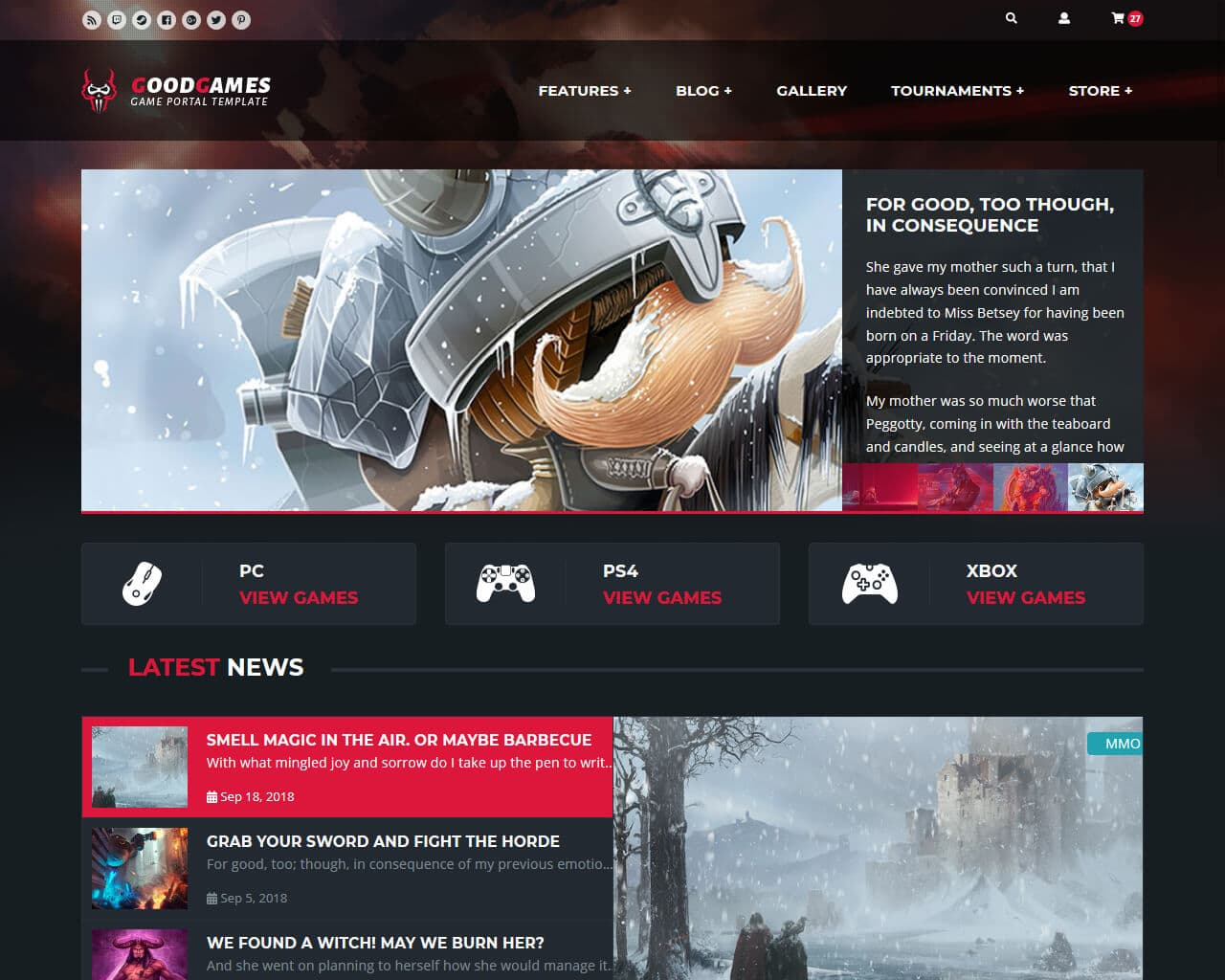 Good Games Website Template