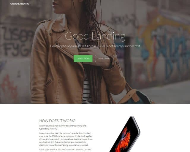 GoodLanding – Bootstrap Landing Page Template