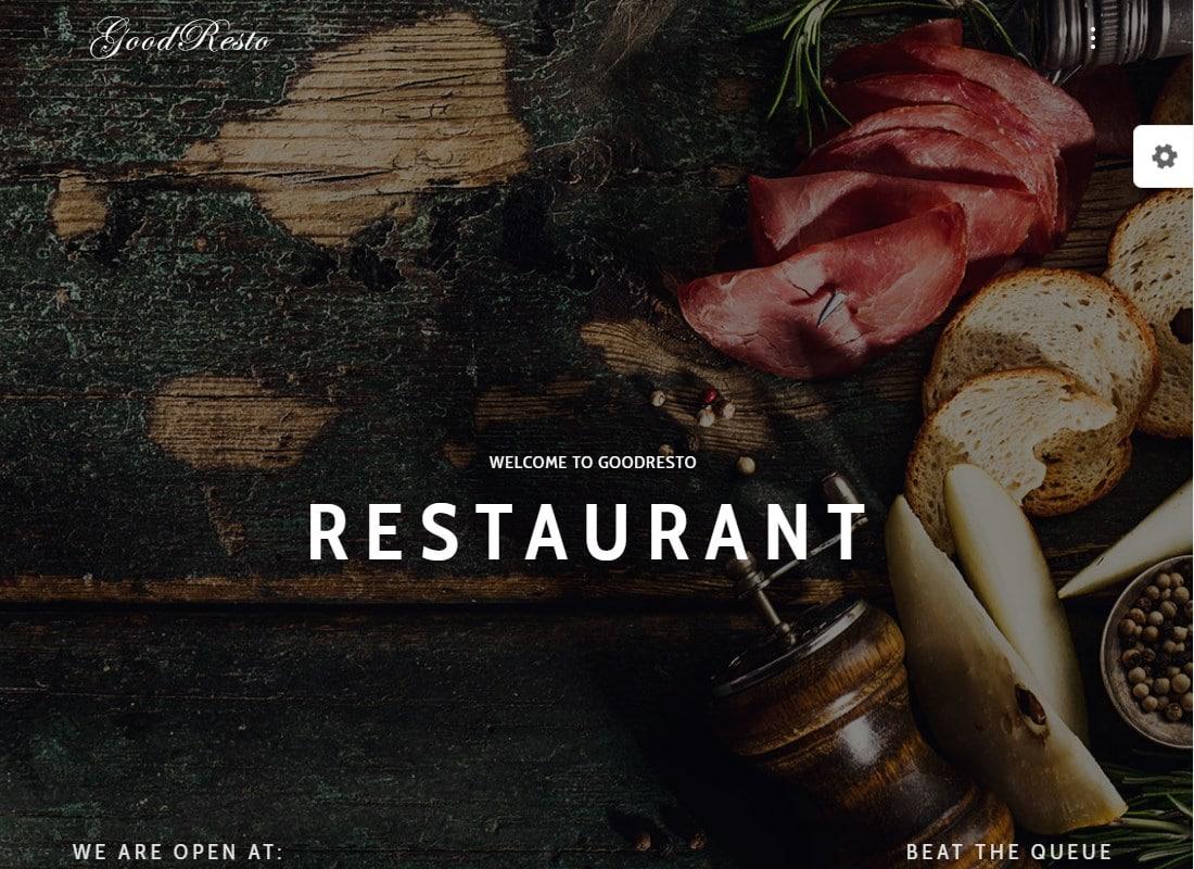 GoodResto - Restaurant Cafe & Bakery WordPress Theme Website Template