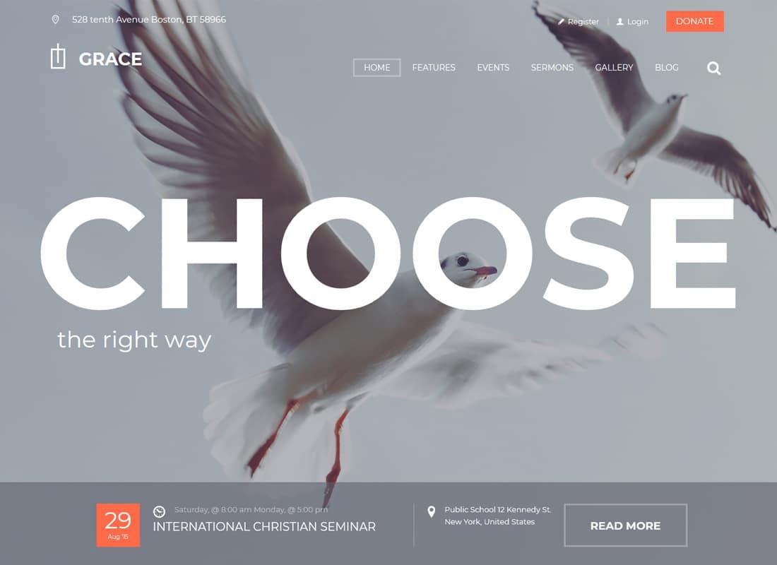 Grace | Church & Religion WordPress Theme Website Template