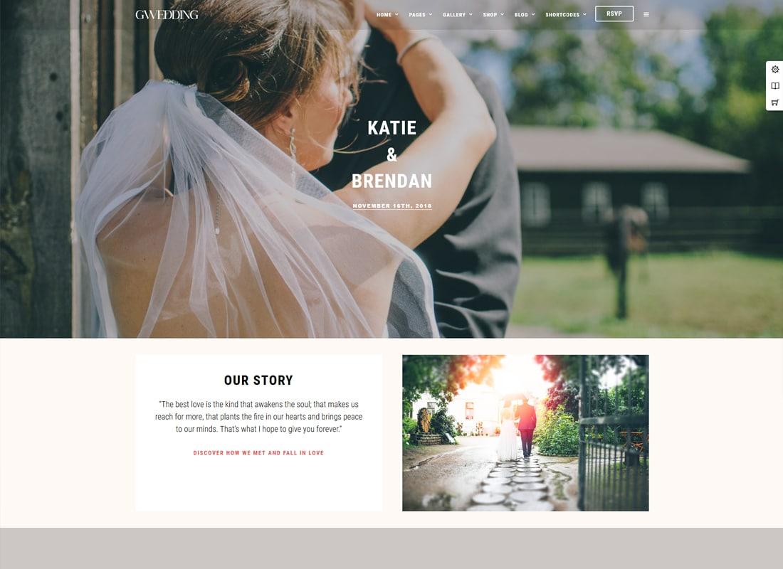 Grand Wedding - Wedding WordPress for Wedding Website Template