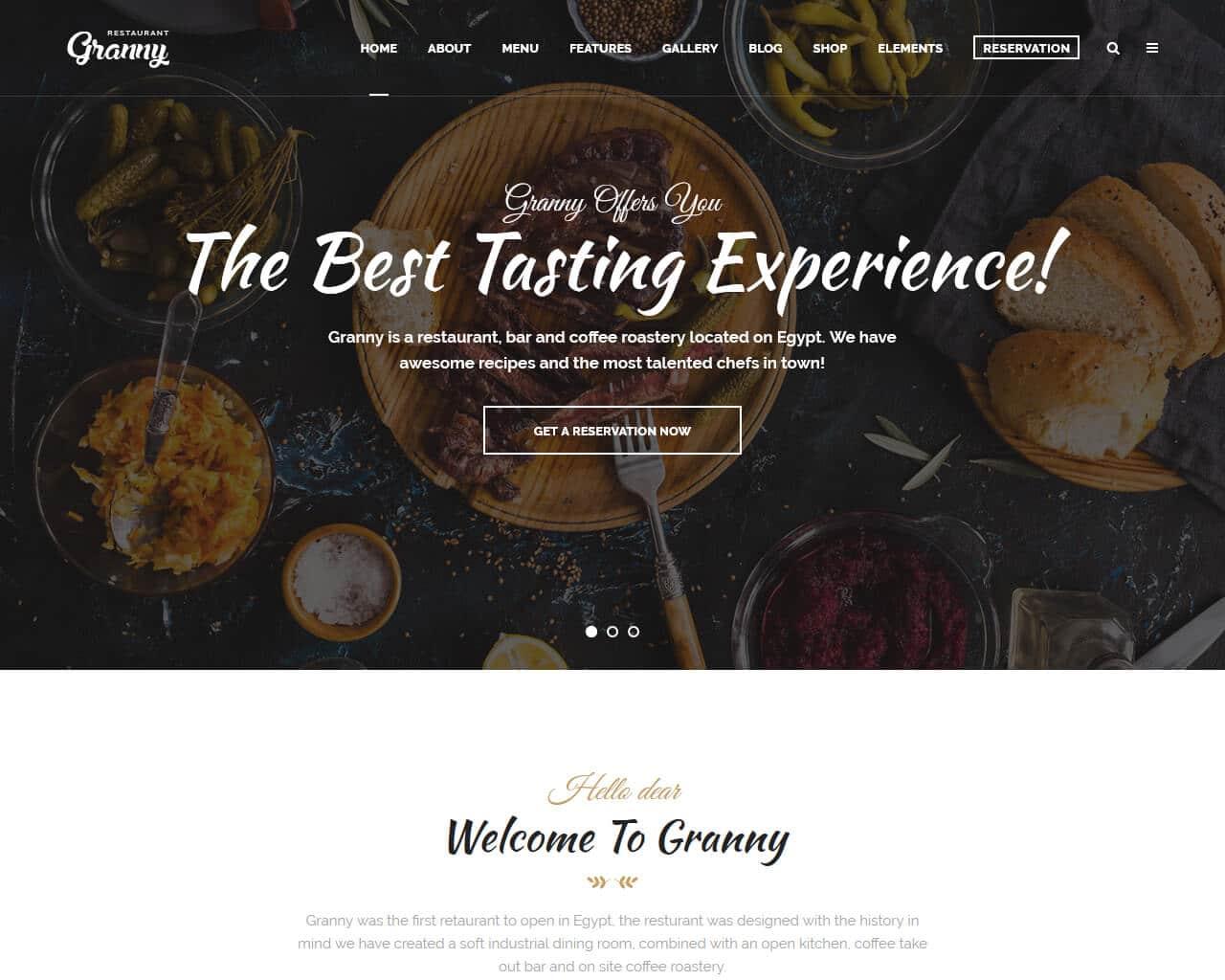 Eye Catching Restaurant Website Templates 2018