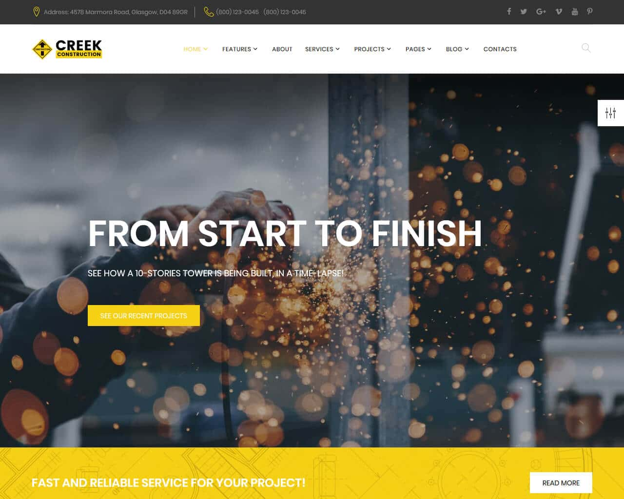 Creek Website Template