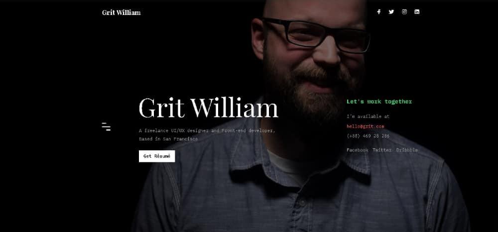 Grit Website Template