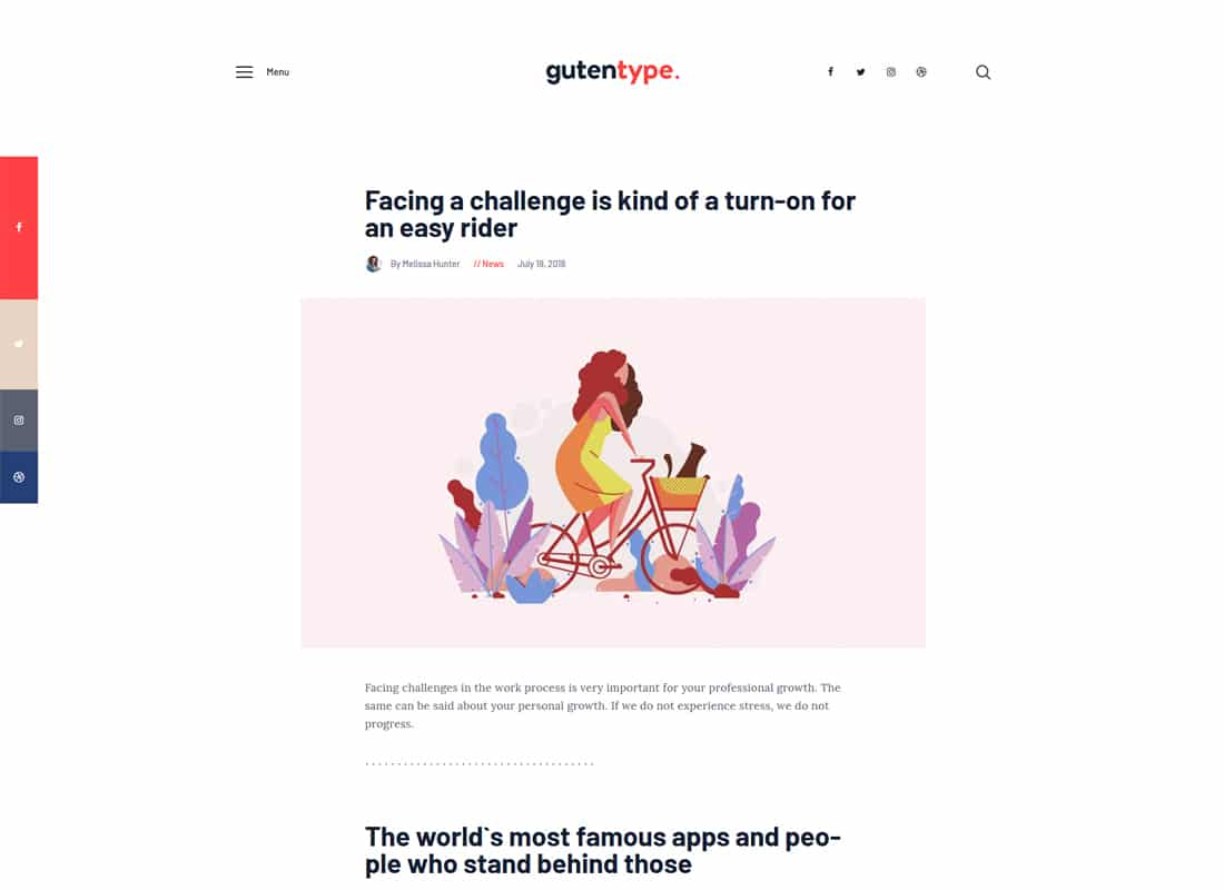 Gutentype | 100% Gutenberg WordPress Theme for Modern Blog   Website Template